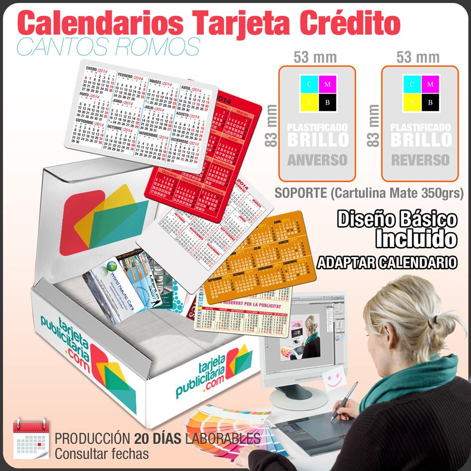 Calendarios Bolsillo Tipo Tarjeta de Crédito • Calendarios ...