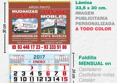 Modelo Pernambuco · Lamina con faldilla mensual de 33,5 cm.