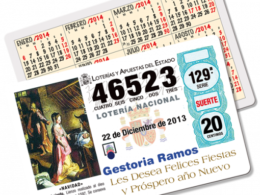 Calendarios para lotería, rifas y sorteos