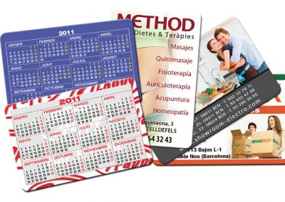 Calendarios Bolsillo Tipo Tarjeta de Crédito