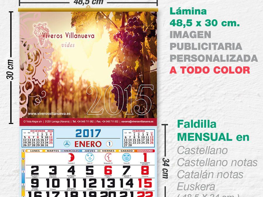 Modelo Bahia · Lámina con faldilla mensual de 48,5 cm.