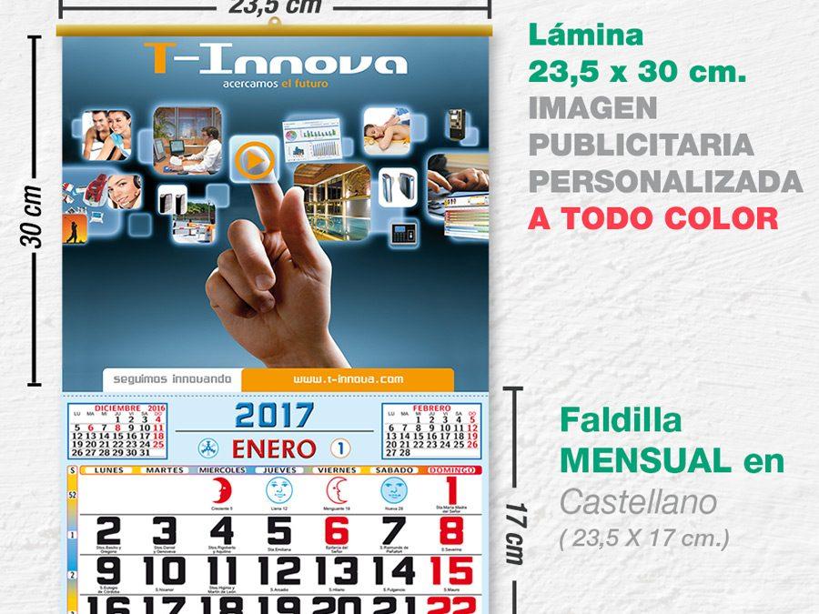 Modelo Recife · Lamina con faldilla mensual de 23,5 cm.