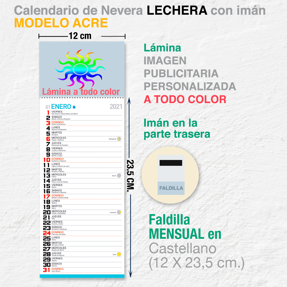 CALENDARIO NEVERA LECHERA ACRE